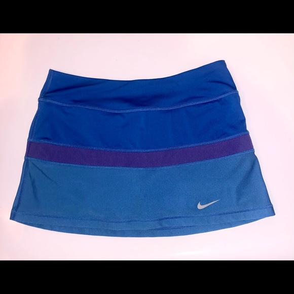 Nike dry fit layered blue tennis skirt